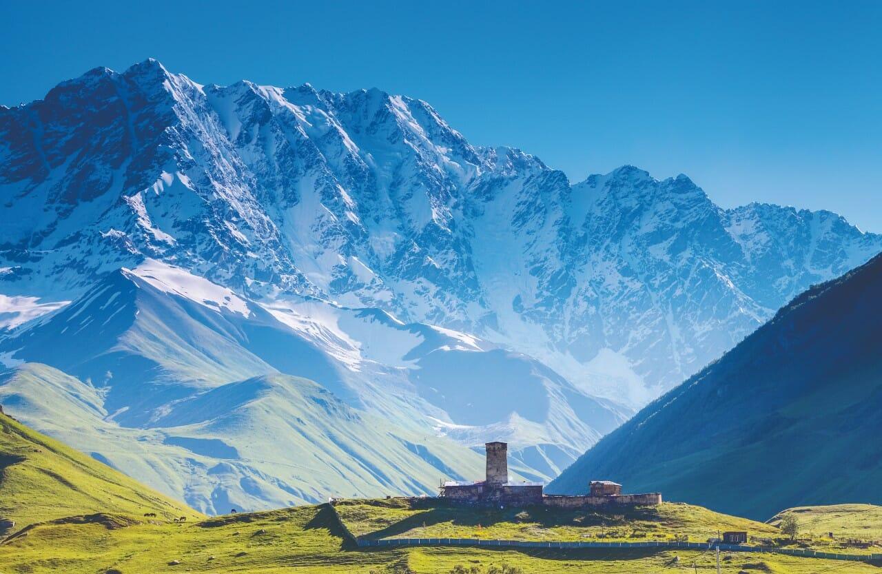 Mount Shkhara Ushguli Georgien