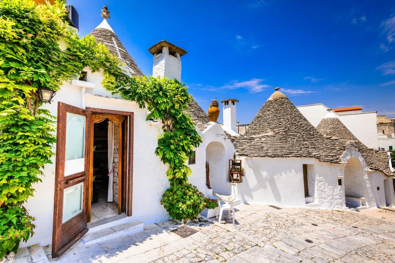 Alberobelo Häuser, Apulien, Italien