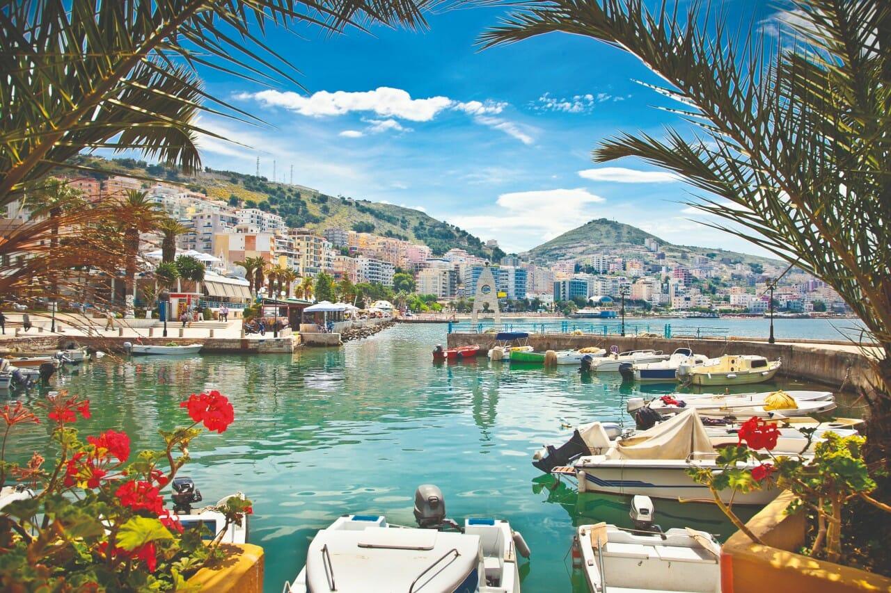 Sarandes Hafen, Albanien