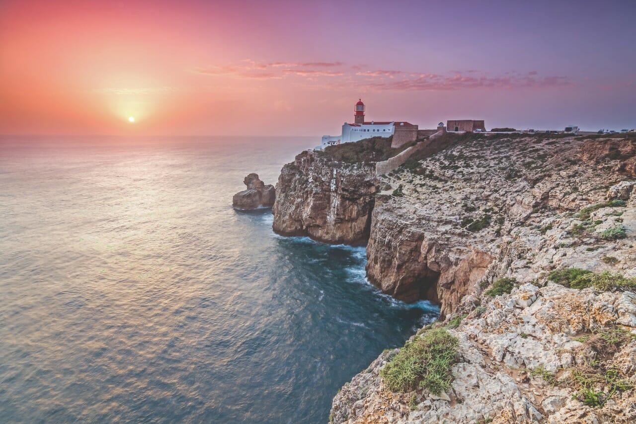 Cabo Sao Vicente Sagres Leuchtturm Algarven Portugal