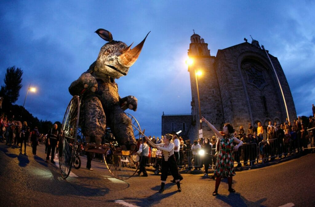 Darbietung am Galway Arts Festival